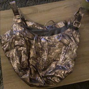 Gold snakeskin pattern purse